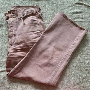 American Eagle Dusty Pink Wide Leg Cropped Jeans